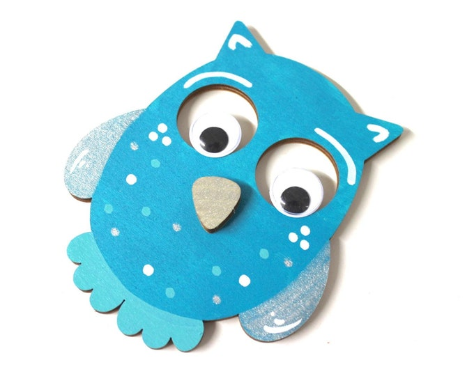 Owl 14.5 cm wooden motif, suitable for wood letters, favorite shops