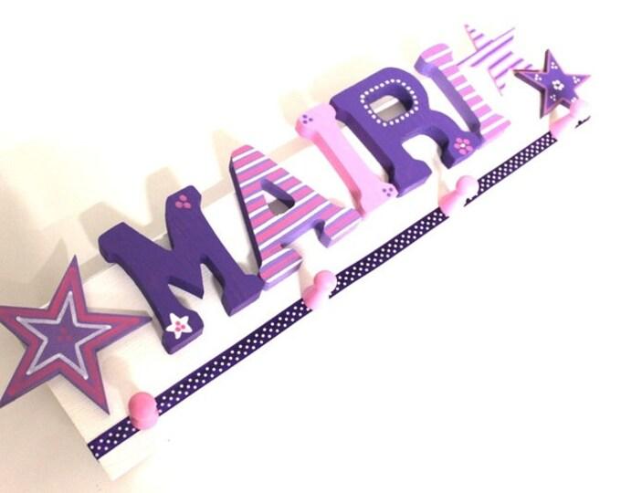 Children's wardrobe, wardrobe, favorite shops, individual children's wardrobe-stars, purple