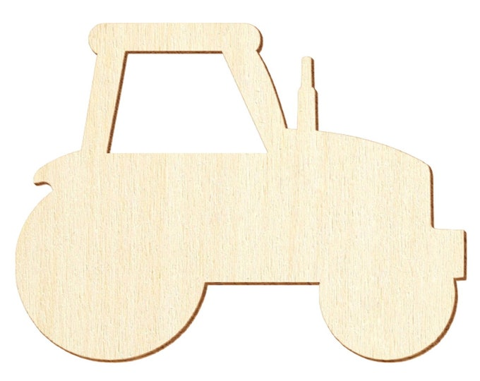 2 tractors matching wooden letters