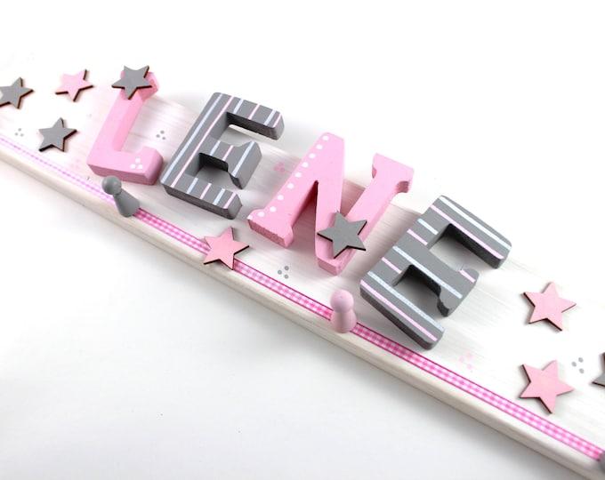 Children's wardrobe, wardrobe, favorite shops, individual children's wardrobe-light grey, pink, blush