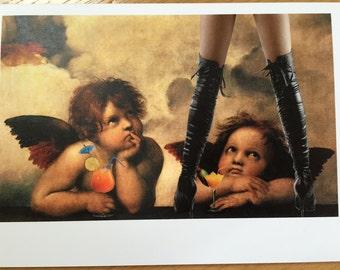 Heathens Greetings - Raphael Cherubs Atheist/Alternative Christmas Card