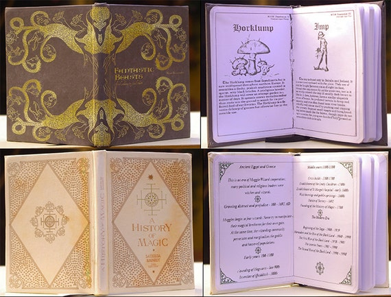 School Books Harry Potter Fanmade A6 Dimension Blank Pages Etsy