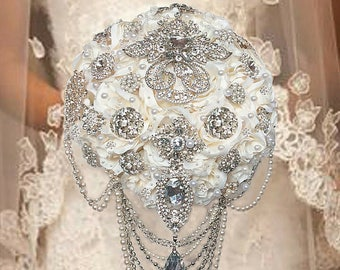 Brooch Bouquet, Cascading Brooch Bouquets, Elegant Brooch Bouquets, Rush Orders Welcome!