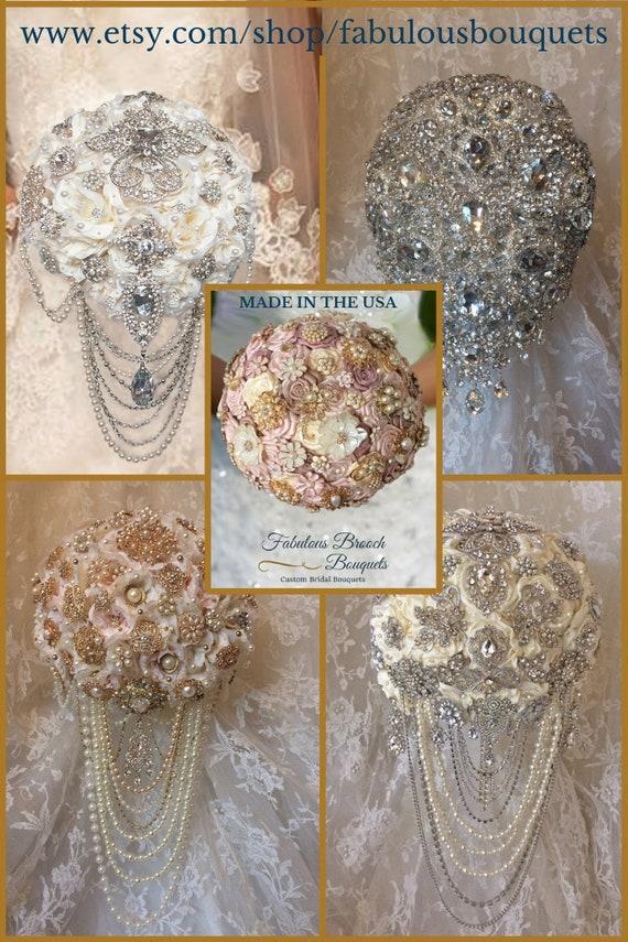 2f587dd05e3 Broche élégante Bouquets fleurs de mariage personnalisé