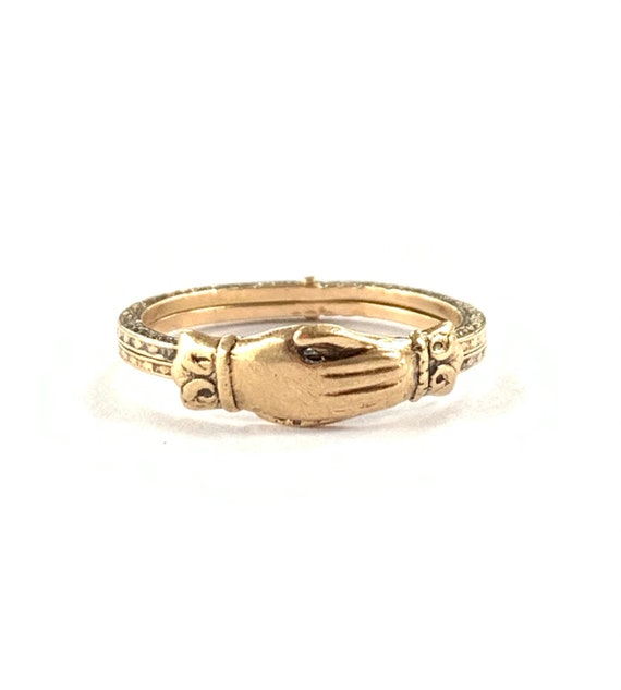 10k Yellow Gold  Fede Gimmel Ring Betrothal Ring P