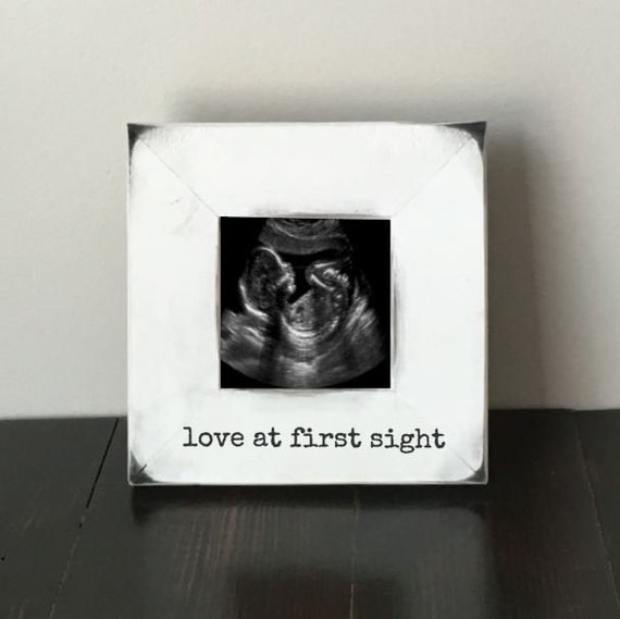 Love At First Sight Frame New Baby Frame Ultrasound Frame Etsy