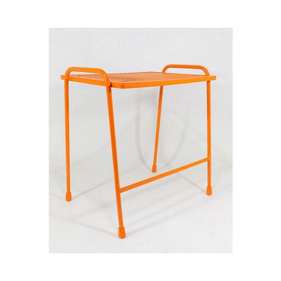 Prime Small Bench Or End Table Orange Wire Side Table Entryway Vintage Metal Indoor Outdoor Furniture Living Room Mid Century Modern Home Decor Ocoug Best Dining Table And Chair Ideas Images Ocougorg