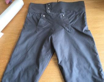 Slate grey cotton breeches