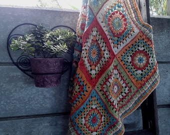 The Cosmic Constellation Crochet Throw Crochet Afghan Square Digital Instant Downloadable PDF Crochet Pattern
