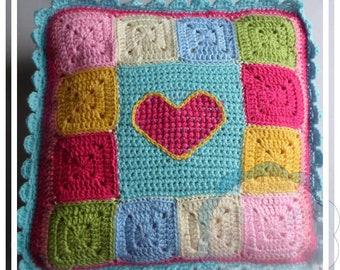 CROCHET PATTERN - Scrapalicious Crochet Cushion Pattern PDF Instant Digital Download