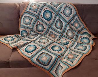 CROCHET PATTERN - Crochet A Block Crochet Throw 2021 Pattern PDF Instant Digital Download