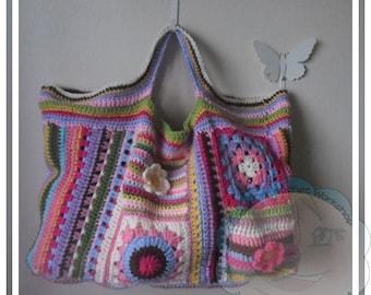 CROCHET PATTERN - Scrapalicious Crochet Bag Pattern PDF Instant Digital Download