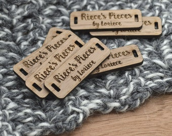50 Product Tags - 0.5 x 1.5 Inches - laser cut and engraved - FREE SHIPPING INCLUDED