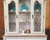 SOLD Refinished Farmhouse Broyhill Hutch - Refinished Furniture - Farmhouse Furniture - Farmhouse Hutch