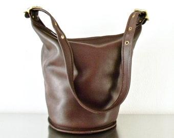 722eebc27a Vintage Coach Mahogany Leather Duffle Sac