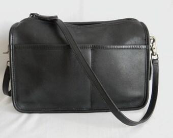 89c88da25d Vintage NYC Black Leather Coach Companion Bag