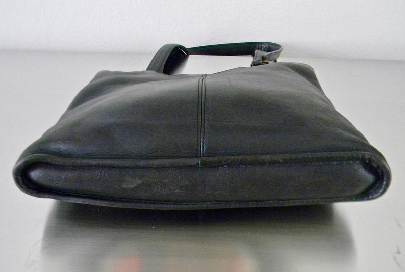 7cff7a84663 Vintage zwarte lederen Coach NYC lijm In mager Tote | Etsy