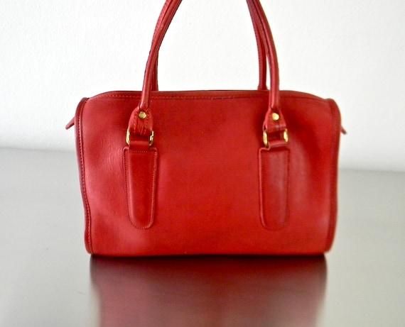 a29243027d Vintage Coach Red Leather Madison Satchel Refurbished Vintage