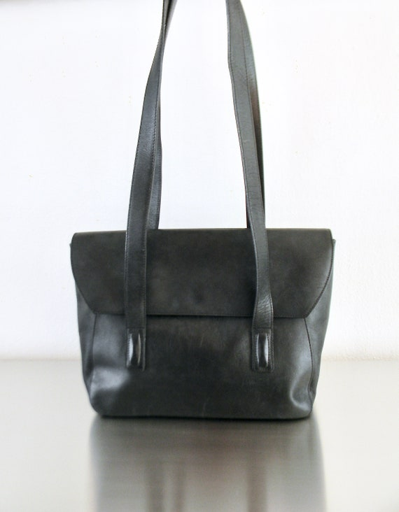 2a993a411 Vintage Coach Black Leather Manhattan Shoulder Bag