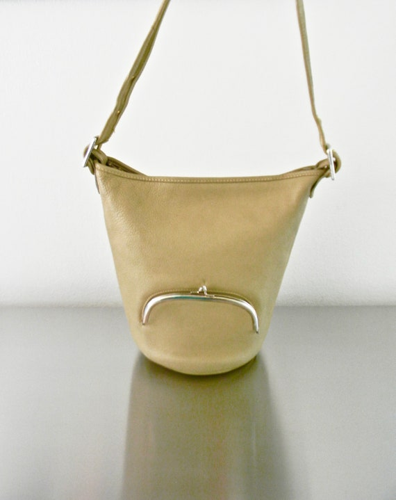 Vintage Taupe Tan Leather Bonnie Cashin for Meyers