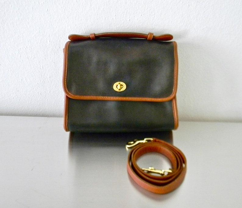 a0e390722e4 Vintage Coach Navy Leather Spectator Court Bag Refurbished | Etsy