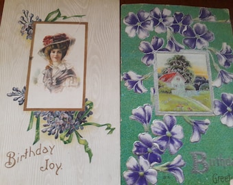 Vintage birthday post cards and birthday cards 1911- 1950