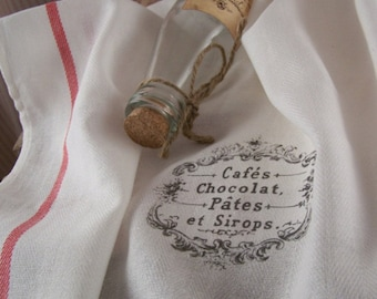 Kitchen Towel Cafes et Sirops, tea towels, kitchen cloth, kitchen towels, paris, kitchen retro