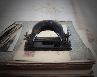puncher, vintage, retro, office, brocante, antiques, office, supplies