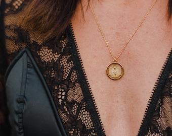 Unique Vintage Renewal Silver Coin Chain Necklace Set