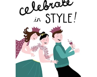 Celebrate In Style Congratulations / Birthday Card
