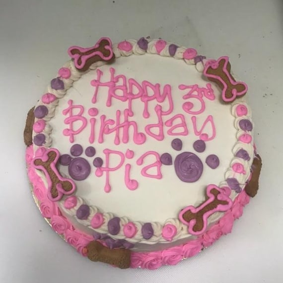 Marvelous Dog Birthday Cake 6 Peanut Butter Or Carob Fudge Etsy Funny Birthday Cards Online Hendilapandamsfinfo