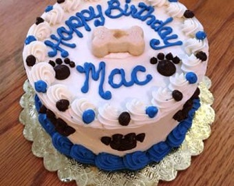 """Dog Cake 6"""", Happy Birthday Puppy Cake - About 8 Servings"""