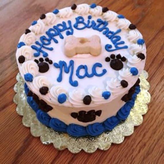 Miraculous Dog Cake 6 Happy Birthday Puppy Cake About 8 Servings Etsy Personalised Birthday Cards Veneteletsinfo