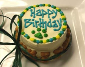 "GRAIN-FREE Peanut Butter 4"" Puppy Cake"