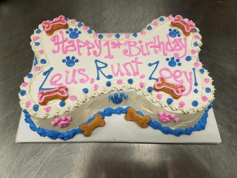 Dog Birthday Cake Large Bone Shaped 9X5