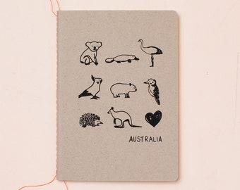 Australian animals notebook