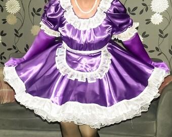fde4b7575 Purple Satin French Maids Uniform - can be lockable