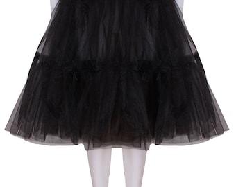 ef285fd19 Gorgeous Black 27 inch 2 tier 2 layer Satin & Organza petticoat. Bridal  Retro Vintage Rockabilly 50's style