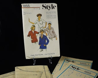 Vintage STYLE Four (4) Style & Four (4) Size Sewing Pattern / 1855 / Size C (10-12-14-16) Miss