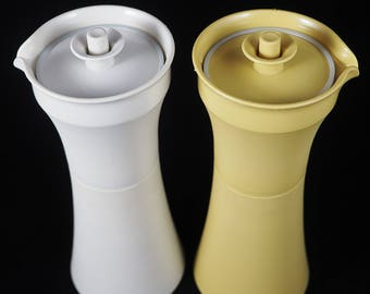 Vintage Pair of Tupperware Oil & Vinegar Cruets