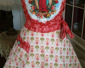 "Our Lady of Guadalupe ""Patroness of the Americas"" Apron! Feminine and Beautiful!"