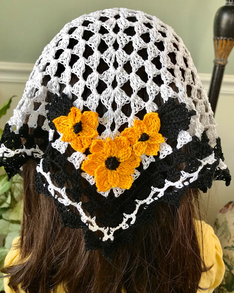 Girl's Lovely and Lacey Crocheted Veil image 0