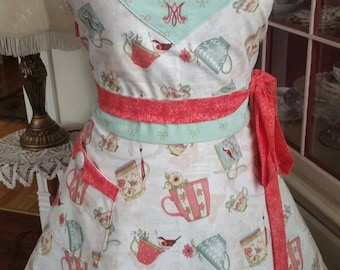 "Morning Tea ""Queen of the Home"" Apron! Feminine and Beautiful!"