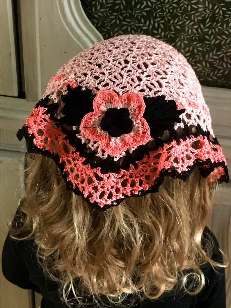 Little Girl's Lovely and Lacey Crocheted Veil image 0