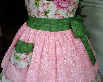 "St Theresa ""The Little Flower"" Apron! Feminine and Beautiful!"