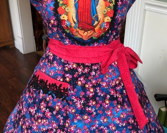 Our Lady of Guadalupe Apron! Feminine and Beautiful!