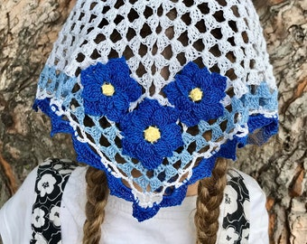 Girl's Lovely and Lacey Crocheted Veil