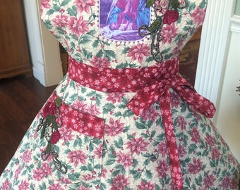Mother and Christ Child Apron! Feminine and Beautiful!