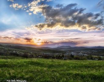Colorado Sunrise, landscape, Colorado, Mountains, sky, nature photography, fine art print