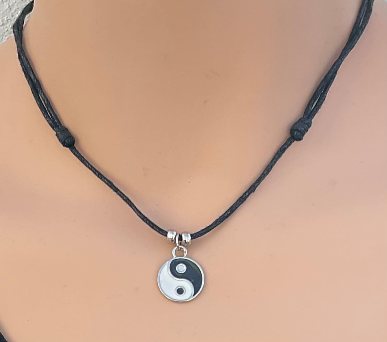 yin yang anhänger yin yang halskette yin yang anhänger  etsy